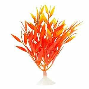 Marina Betta Fire Grass Plastic Plant, 5-Inch