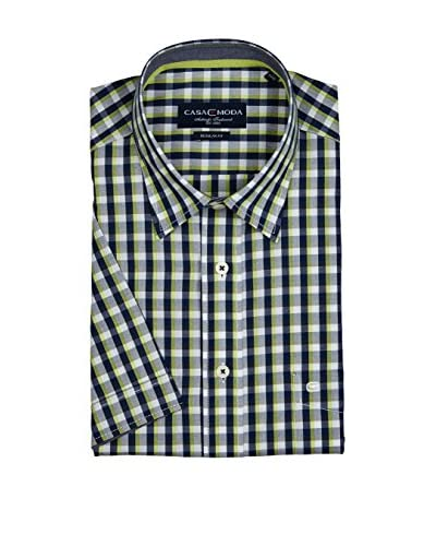 Casamoda Camicia Uomo Regular Fit [Blu/Lime]