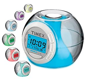 Timex T035WC2 Color Changing Alarm Clock with Soothing Sounds (White)