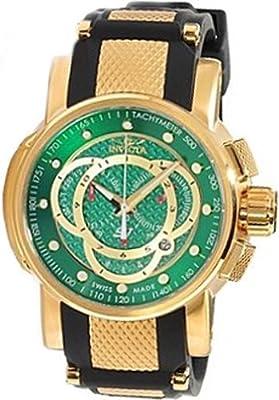 Invicta Men's 0898 S1 Chronograph Green Fiber Dial Black Polyurethane Watch