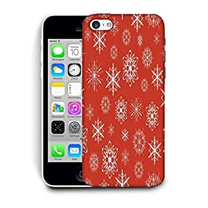 Snoogg White Pattern Red Printed Protective Phone Back Case Cover For Apple Iphone 6 / 6S