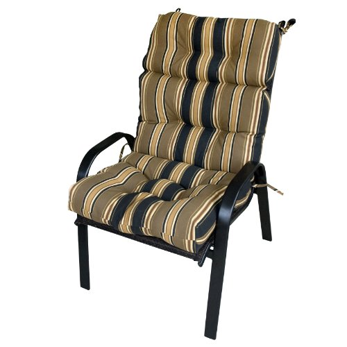 4809 Espresso ly 32% Greendale Home Fashions Outdoor High Back Chair Cushio