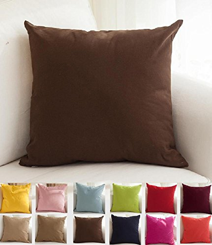 [TangDepot Cotton Canvas Throw Pillow Cover -  Handmade - Many Colors Avaliable (20
