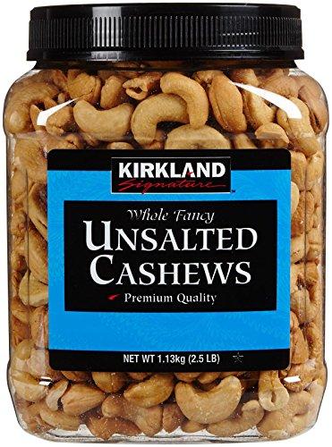 Kirkland Signature Kirkland Signature Unsalted Cashews, 2.5 Pound (Raw Roasted Cashews compare prices)