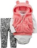 Carter's Baby Girls' 3 Piece Vest Set-Zebra Print
