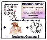 Timeline Trinketts Rhinestone Birthstone Charm Bracelet Beads Fits Pandora Jewelry - Rose Pink