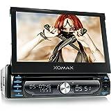 XOMAX-XM-DTSBN927-Autoradio-Moniceiver-Naviceiver-mit-GPS-Navigation-Navi-Software-inkl-Europa-Karten-48-Lnder-Bluetooth-Freisprechfunktion-7-18-cm-Touchscreen-Display-in-169-HD-Auflsung-800-x-480-px-