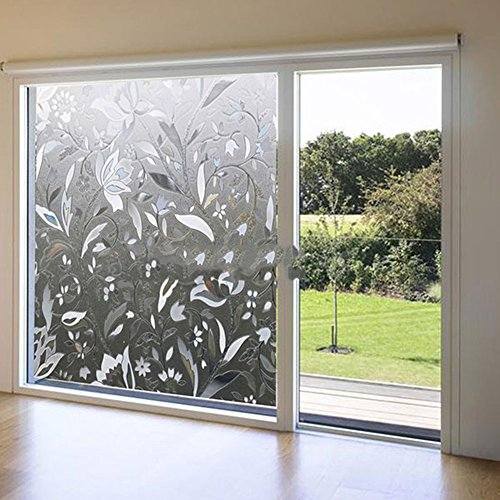Window Film 3D Flower Sticker 45x100cm (Two Way Mirror Window Film compare prices)