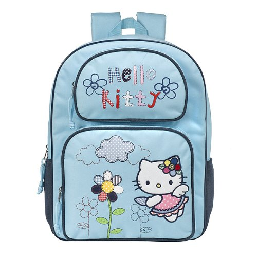 Hello Kitty Angel Zip White Quilted Backpack Handbags