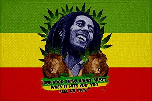 U24toppa bandiera canapa Bob Marley, da 9x 6cm