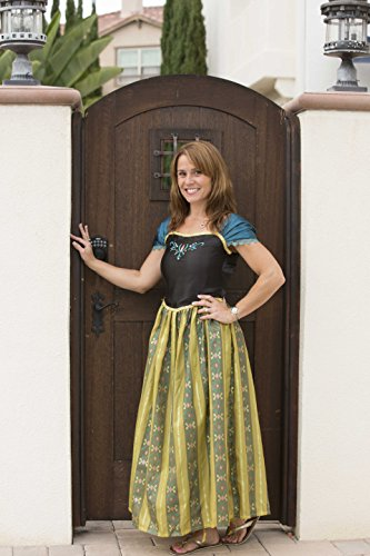 Women Adult Frozen Anna Princess Costume Dresses for Halloween Party Dress up