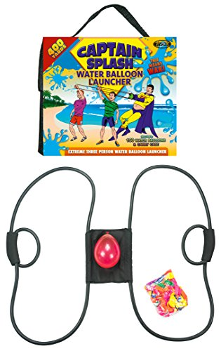 Captain Splash 400 Yard Water Balloon Launcher, 150 FREE Water Balloons and Carry Case, 3 Person Extreme Launcher Slingshot. 2016 Edition.