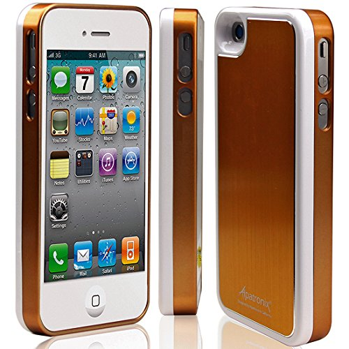 Alpatronix Mfi Apple Certified Bx100 1900Mah Iphone 4/4S Battery Charging Case (Ultra Slim Removable Extended Battery, Fits All Models Of Apple Iphone 4/4S - Retail Packaging) - Aluminum Gold/White