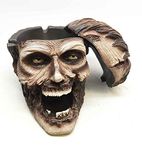 WALKING UNDEAD ZOMBIE CIGARETTE ASHTRAY SMOKING DEAD SCULPTURE RESIN