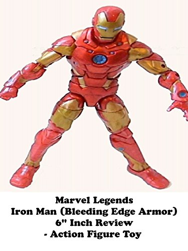 "Marvel Legends 6"" inch IRON MAN Review (Bleeding Edge armor) Iron Man line action figure toy"