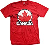 Canada Maple Leaf Logo Mens T-shirt, Canadian National Pride Men's Tee Shirt