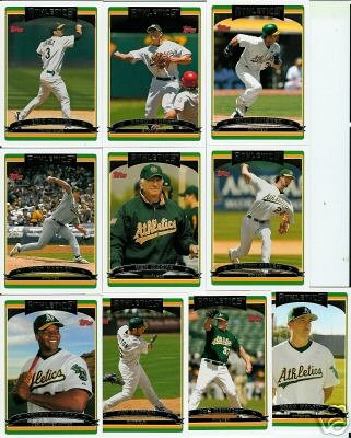 Buy 2006 Topps Oakland Athletics Baseball Cards Complete Team Set (23 cards)