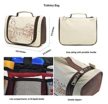 LYCEEM Packing Organizer Value Set for Travel Packing Cubes Toiletry kit Shoes Electronics Organizer Bag fit 24 Carry-on Luggage 2
