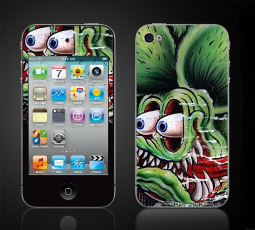 Apple Ipod Touch 4Th Gen Skin Kit - Rat Fink Design.Ed Roth Rat Rod, Kustom front-1078773