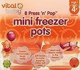Vital Baby Press n Pop Mini Freezer Pots Orange 1 Ounce 8 Pack