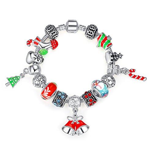 Wostu Christmas Jewellery Charm Bracelet for