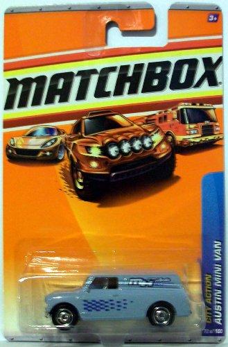 2010 Matchbox 72/100 Austin Mini Van Grey 1:64 - 1