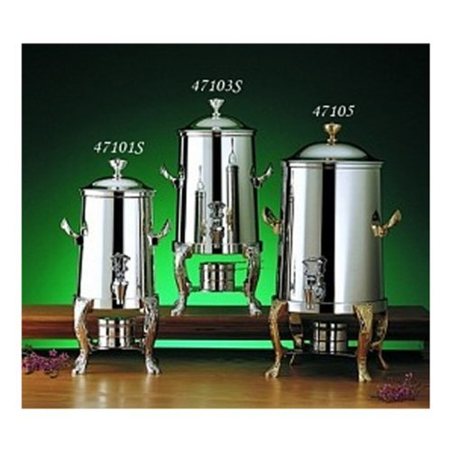 Bon Chef 47101C Renaissance Non-Insulated Coffee Urn With Chrome Trim, 2 Gal Capacity, Chrome Accents