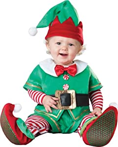 Incharacter Costumes, LLC Santa's Lil' Elf Costume, Green/Red, Large (18 to 2T)