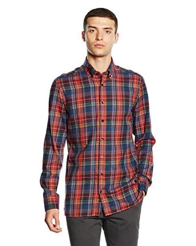 Hackett London Camisa Hombre Azul Marino / Rojo