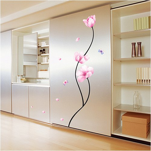 Easy+Instant+Decoration+Wall+Sticker+Decal+-+Perfect+Flower+Stem