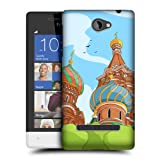 Head Case Designs Russia Doodle Cities Protective Snap-on Hard Back Case Cover for HTC Windows Phone 8S