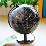 【ノーブランド品】 おしゃれ 英語表記 黒い 小さな インテリア 地球儀 オブジェ