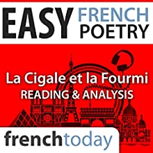 La Cigale et la Fourmi (Easy French Poetry): Reading & Analysis Audiobook by Jean de La Fontaine Narrated by Camille Chevalier-Karfis