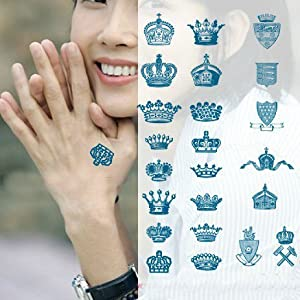 Amazon.com : Various Queen King Crown Finger Hand Temporary Tattoo