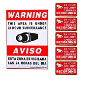 Amazon.com: VideoSecu 6 Pack of Security Warning Signs Stickers Decals for CCTV Video Surveillance Camera System 3GB: Camera & Photo