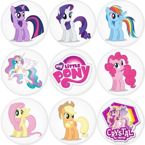 MY LITTLE PONY round badges 1.75