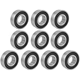 6203RS Shielded Deep Groove Radial Ball Bearings 17mmx40mmx12mm 10Pcs