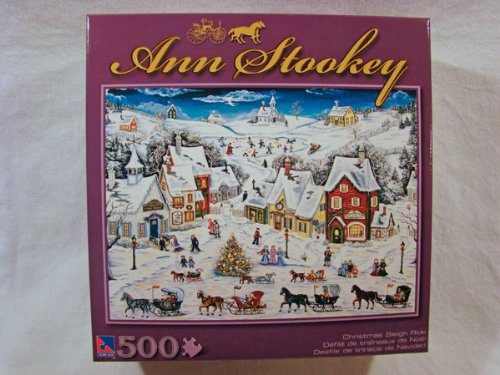 51TTdau IVL Cheap Buy  Ann Stookey 500 Piece Jigsaw Puzzle: Christmas Sleigh Ride