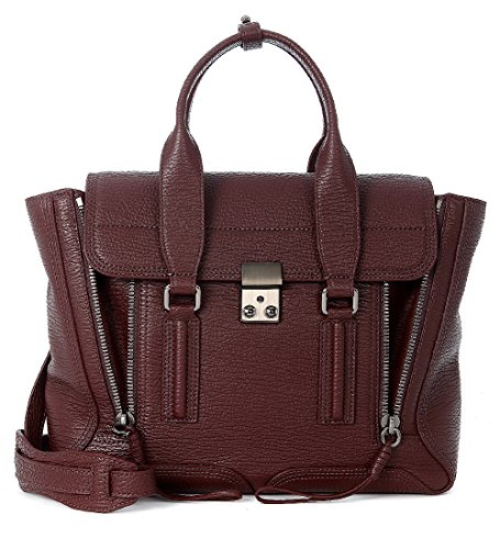 31-Phillip-Handtasche-Lim-Pashli-Medium-Satchel-Leder-in-Bordeaux-Dunkelrot