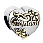 Pugster Heart Flower Grandma European...
