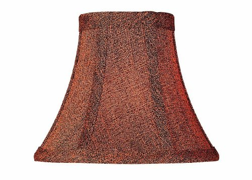 Lite Source CH5102-6 6-Inch Lamp Shade, Rust And Black