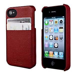 August Accessories HX1100 Hex Solo Wallet for iPhone 4/4S - Carrying Case - Retail Packaging - Torino Red