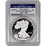 2014 W American Silver Eagle DCAM First Strike West Point Proof Dollar PCGS PR70