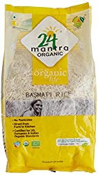 24 Mantra Organic Basmati Rice Premium Polished, 1kg