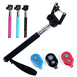Wireless Selfie Stick by Metamorphoo Products - with Bluetooth Remote Control & Case - for iPhone (6, 6 plus, 5, 5s, 5c, 4s, 4) & Android (e.g Samsung Galaxy) - (Pink) Robust, Easy Carry & Use...