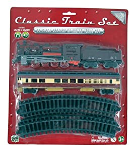 WowToyz Classic Train Set - Steam Engine with Passenger Car