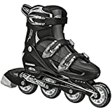 Roller Derby Men's V-Tech 500 Button Adjustable Inline Skate, Black/White, Size 6-9