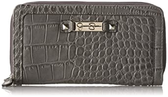 Jessica Simpson Daisy Too Large Double Z/A Card Case,Grey,One Size