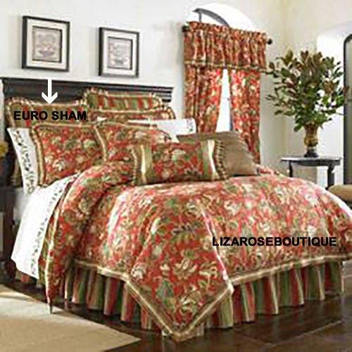 J. Queen New York Castille European Sham, Red Stripe (J Queen New York Pillows compare prices)