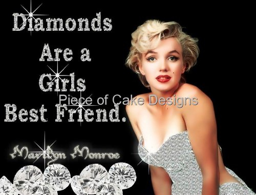 1/4 Sheet ~ Marilyn Monroe Diamonds ~ Edible Image Cake/Cupcake Topper!!!